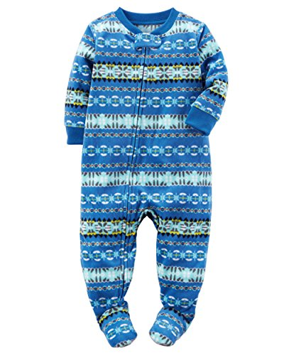 Carter's Baby Boy's One Piece - 6 Months - Blue Fair Isle