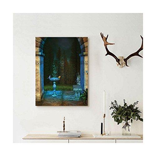 liguo88personalizado lona gótico decoración de la casa para colgar en la pared Bosque Paisaje de los antiguos arco...