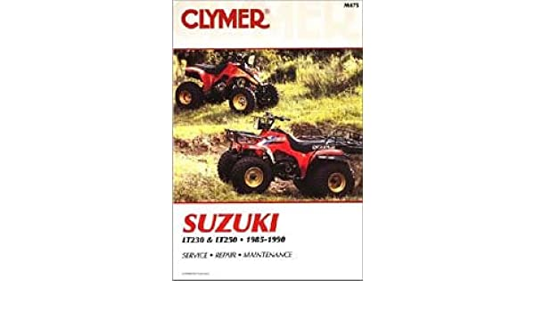m475 1985 1990 suzuki lt230 lt250 atv repair manual by clymer rh amazon com