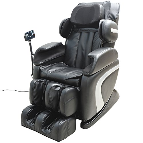 HOMCOM Luxury Reclining Leather Massage Chair Automatic Zero Gravity Relax...