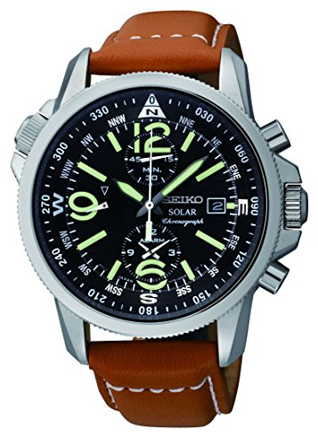 Seiko Men's SSC081 Adventure-Solar Classic Casual Watch (Seiko Watches For Men Ssc)
