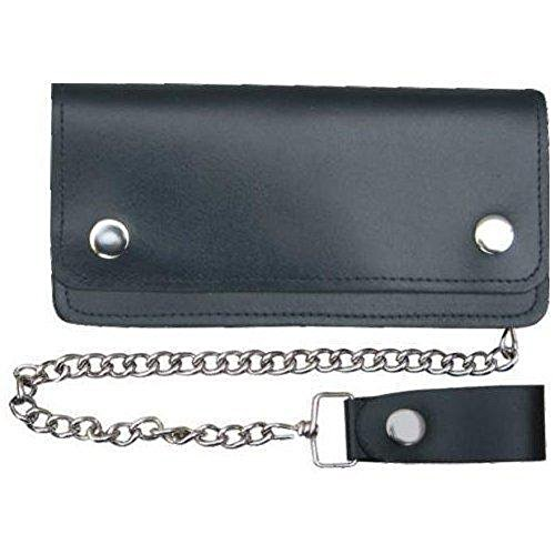Hand Crafted Soft Solid Genuine Leather Wallet with Chain