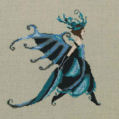 Miss Beetle Kit Beaded Counted Cross Stitch by Nora Corbett Mirabilia Designs NC259 (Bundle: Chart, Beads) Intriguing Insects Collection