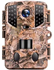 Van Top Ninja 1 Trail Camera 20MP 1080P Hunting Game Cam with Night Vision Motion Activated, Waterproof Scouting Camera with 3 Infrared Sensors, 120° Detecting Range for Wildlife Monitoring