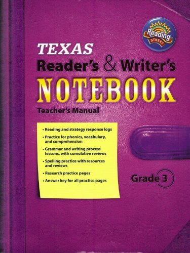 Texas Reader's & Writer's Notebook Teacher's Manual Reading Street Grade 3 (Review Copy)