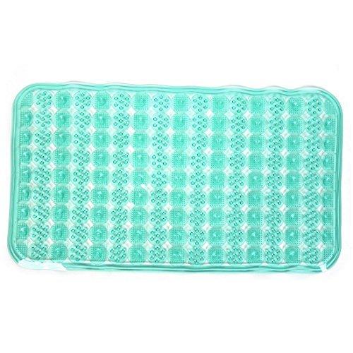 eDealMax Salle de Bains Baignoire Non-Slip Mat Anti Slip Tapis 68cmx37cm bleu Sarcelle