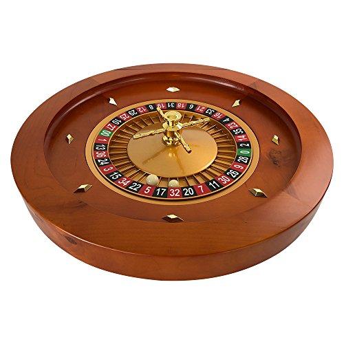 YH Poker 18Inch Deluxe Wooden Roulette Wheel ¡