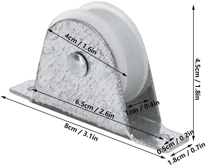V-Groove Wheel with Bracket for Gate Inverted Track Rolling Driveway Ladder Pulley Wheel Replacement Part Industrial