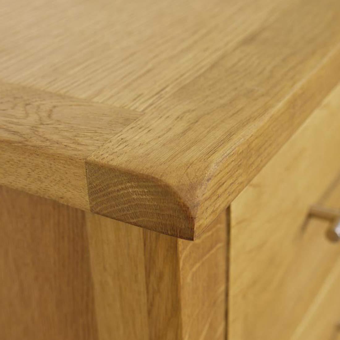 3 Drawer Bedside Unit//Bedroom Furniture Lamp Cabinet Nebraska Modern Oak Bedside Table