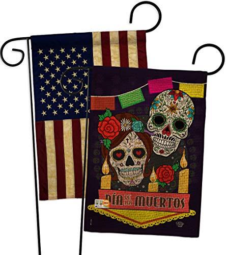 Ornament Collection GP191029-DBAA Dia de Los Muertos Burlap Fall Halloween Impressions Decorative Vertical 13