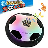 air ball toy - Kids Air Power Music Soccer LED Light Up Size 4 Football Toys,AMENON Boys Girls Sport Children Toys Training Football Indoor Outdoor Disk Hover Ball Game for Easter