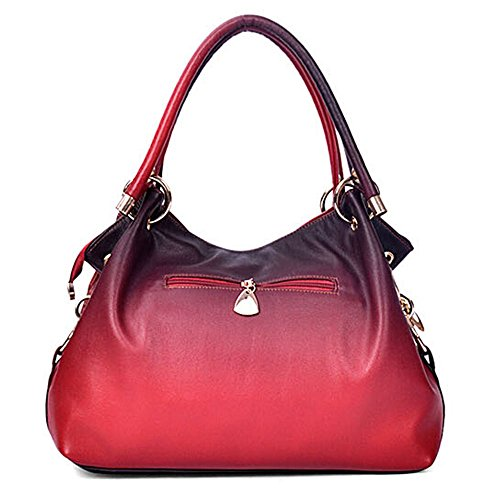 Handbag Tote Perfect Large Bag Bumud Red Classic Shoulder Fashion Tote Women's Leather qxcRp4w