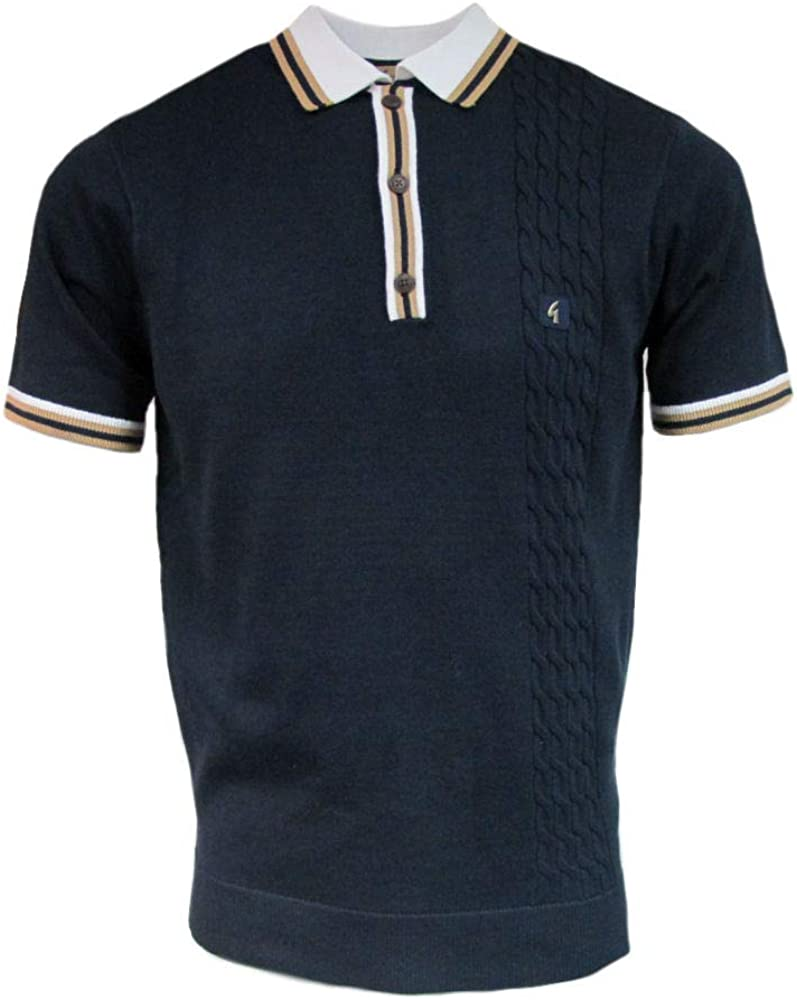 Gabicci Croxted 3 Button Mens Polo Shirt | Navy Small: Amazon.es ...