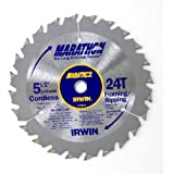 IRWIN Tools MARATHON Carbide Cordless Circular Saw Blade, 5 1/2-Inch, 18T Carded (14011)