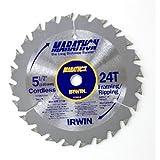 IRWIN Tools MARATHON Carbide Cordless Circular Saw Blade, 5 1/2-Inch, 18T Carded (14011) фото