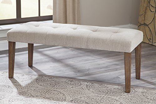Neriville Contemporary Linen Color Large Upholstered Dining