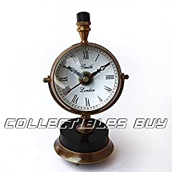 Royal Vintage Brass Clock Smith London Table Clock Marine Gift Items Nautical Decorative Items