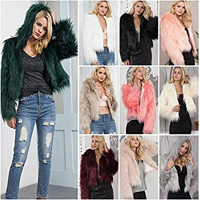 QIQIU ?? Clearance! Women's Faux Fur Warm Coat, Ladies 2018 Solid Hooded Parka Outerwear Winter Comfortable Jacket