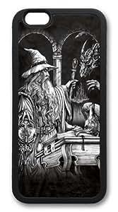 Wizard and Dragon Custom iphone 6 plus 5.5 inch Case Cover TPU Black