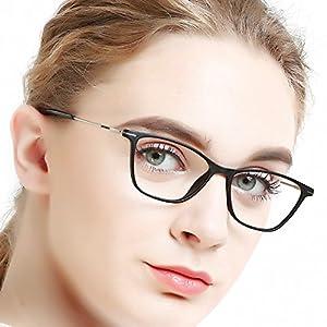 OCCI CHIARI Fashion Womnen Thin TR90 Rectangular Eyewear Frames with Clear Lenses