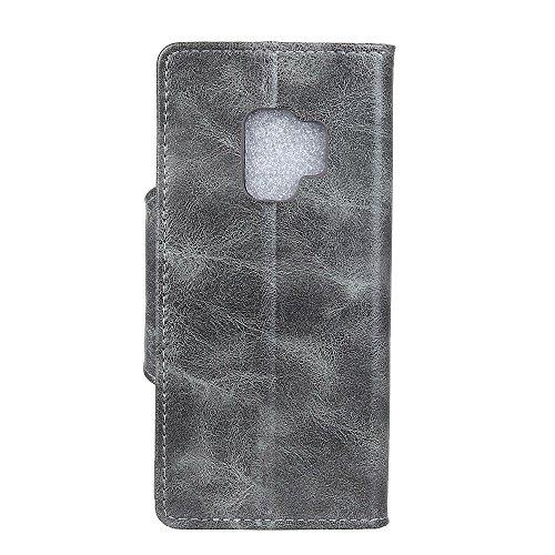 Samsung Galaxy S9 Hülle,Samsung Galaxy S9 Gold Leder Handyhülle, Cozy Hut® Ledertasche Brieftasche für Samsung Galaxy S9 Eulen Muster Design , PU Leder Hülle Wallet Case Folio Schutzhülle Schutz Schal Graues Leder