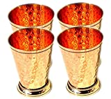 Mint Julep Cup Pure Copper Moscow Mule Mint Julep Cup beautifully handcrafted Capacity 12 Ounce Hammered By Hand Handcrafted beading Pack of 4