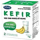 VIVO Real Kefir Starter/Natural (5 boxes. 10 Bottles) Makes up to 30 quarts of kefir