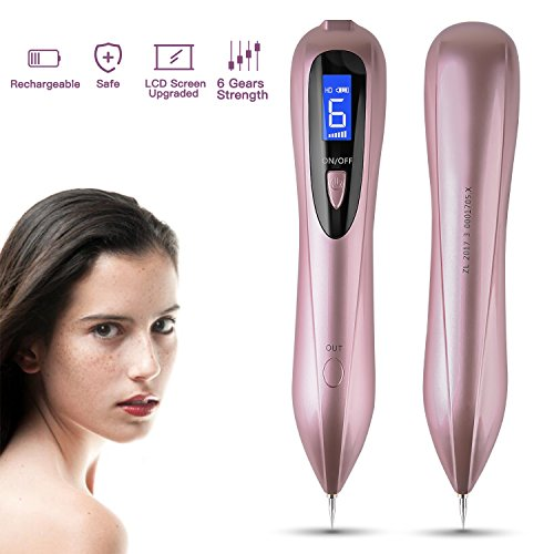 Sweep Spot Pen, Mole Removal Pen, 6 Gears Strength Electric Body & Facial Skin Tag Remover Pen, Professional ​Freckle Spot Remover Kit​s, USB Charging Mole Remover Machine - Skin Care Problem Solvers