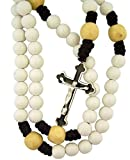 Moulded Volleyball Shape Prayer Bead Rosary for Sports Athlete, 20 Inch