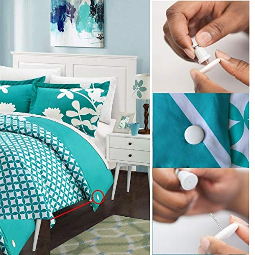 PinionPins - Patented Magnetic Duvet Clips - Stronger Than Traditional Bedding pins - Use as Duvet Donuts, Comforter Pins, Curtain or Drape Pins, or to Secure Upholstery! (8, Cloth)
