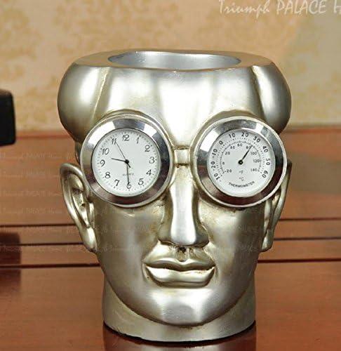 SU@DA Porträt/Wissenschaft/Stift/Uhr/Thermometer Funktion/Ornamente/Wohnzimmer/Arbeitszimmer/Zubehör/12 * 12 * 15 , picture