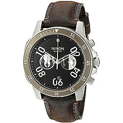 Nixon Men's 'Ranger Chrono Leather SW, Jedi Black / Brown' Quartz Stainless Steel Casual Watch (Model: A940SW-2377-00)