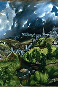 EJ1865 El Greco Toledo 1599 Painting Art 36x24 Print POSTER