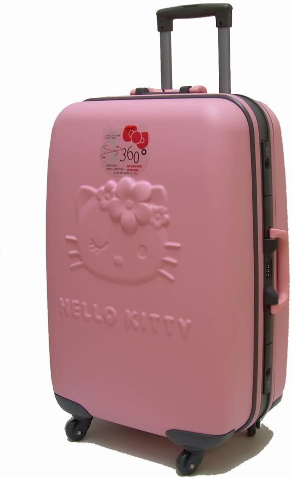 HELLO KITTY MALETA ROSA DURA 72 CM