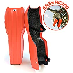Sled Legs Wearable Snow Sleds with Leg Support Orange (Large)