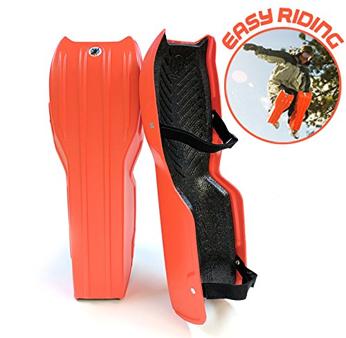 Sled Legs Wearable Snow Sleds - Fun Winter Accessories with Leg Support - Family Friendly Winter Activities - Exciting Winter Fun in The Snow