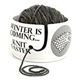 Game of Thrones Knitting Yarn Bowl - Winter is Coming GREY