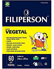 Papel Vegetal A3 Filiperson 60g Translúcido 50 Folhas