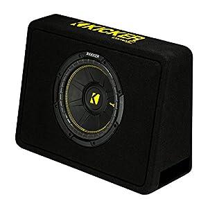 "New Kicker 44TCWC102 10"" 600W Subwoofer + Box + Boss R1100M 1100W Amp + Amp Kit"