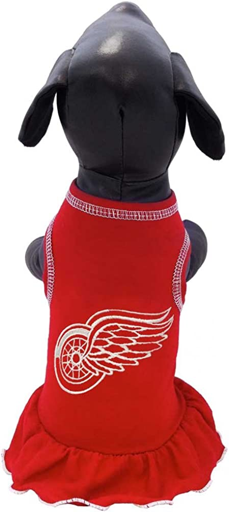 Red Large NHL Detroit Red Wings Dog Cheerleader Dress