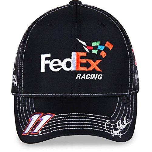 nascar-adult-driver-sponsor-uniform-adjustable-hat-cap-denny-hamlin-11-fedex