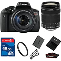 Canon T6I DSLR + 18-135mm IS STM Lens+ 16GB Memory + UV Filter + Deluxe Value - International Version