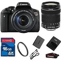 Canon T6I DSLR + 18-135mm IS STM Lens+ 16GB Memory + UV Filter + Deluxe Value - International Version