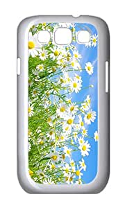 Samsung S3 Case,VUTTOO Stylish Field Of Daisies Hard Case For Samsung Galaxy S3 I9300 - PC White