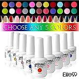 gelish gel nail polish - Elite99 Pick Any 5 Colors Soak Off Gel Nail Polish UV LED Color Nail Art Gift Set 241 Colors Available