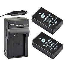 DSTE® 2x EN-EL20 Battery + DC125 Travel and Car Charger Adapter for Nikon Coolpix A 1 J1 J2 J3 AW1 S1 V3 Camera as EN-EL20A
