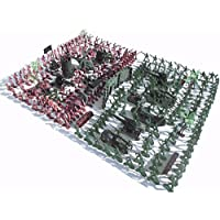 New 270Pcs Military Soldiers Toy Kit Army Men Figures & Accessories Model For Sand Box By KTOY