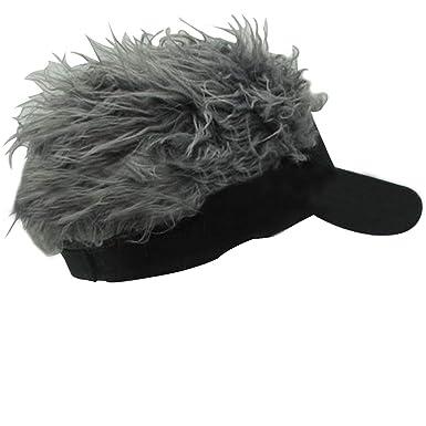 Jlong Flair Hair Sun Visor Cap Unisex Adjustable Velcro Hat Cap Visor with Spiked Hair