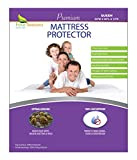 Queen Size Waterproof Mattress Protector - Fitted Sheet Style - Hypoallergenic Premium Quality Cover Protects Against Dust Mites, Allergens