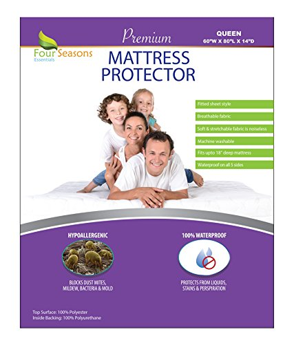 Queen Size Waterproof Mattress Protector - Fitted Sheet Matt
